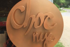 Chocolate New York City Sign
